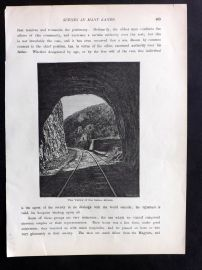 Voyages and Travels 1887 Antique Print. Valley of Sebes Koros, Romania